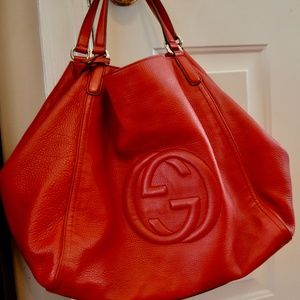 Gucci Soho Red Leather Shoulder Bag